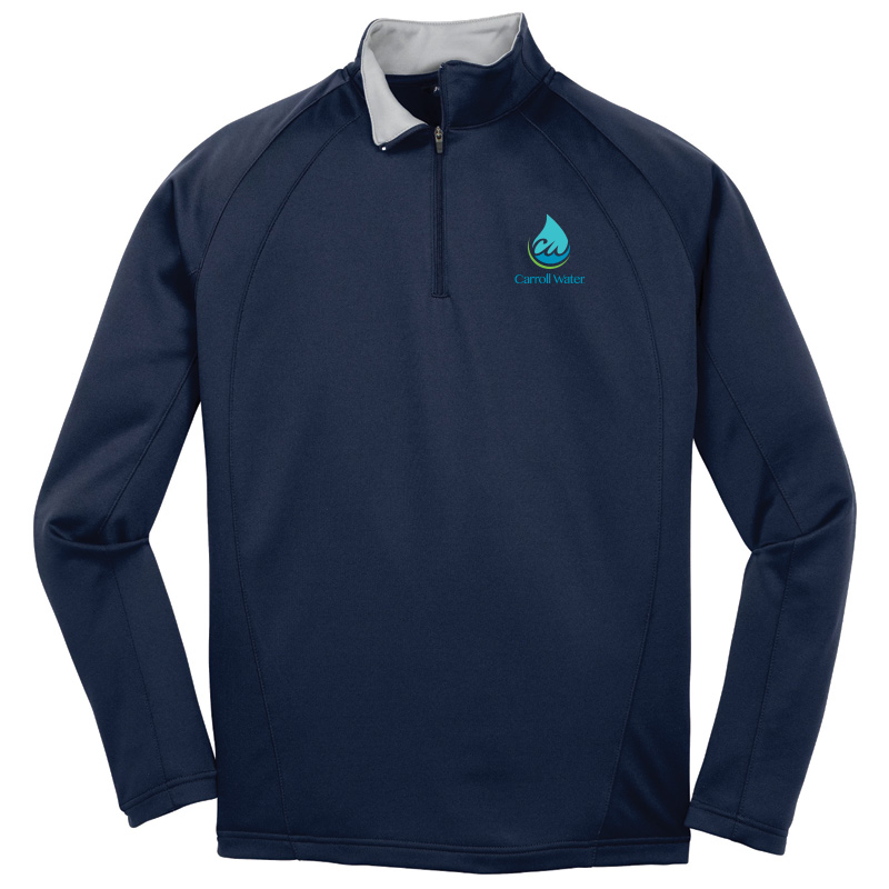 Carroll Water Sport-Tek® Sport-Wick® Fleece Quarter-Zip Pullover - Navy