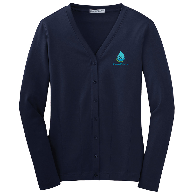 Carroll Water Port Authority® Ladies Modern Stretch Cotton Cardigan - Navy
