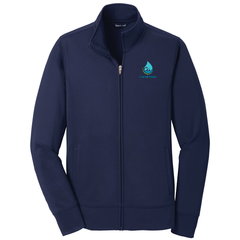 Carroll Water  Ladies' Sport-Tek® Sport-Wick® Fleece Full-Zip Jacket - Navy