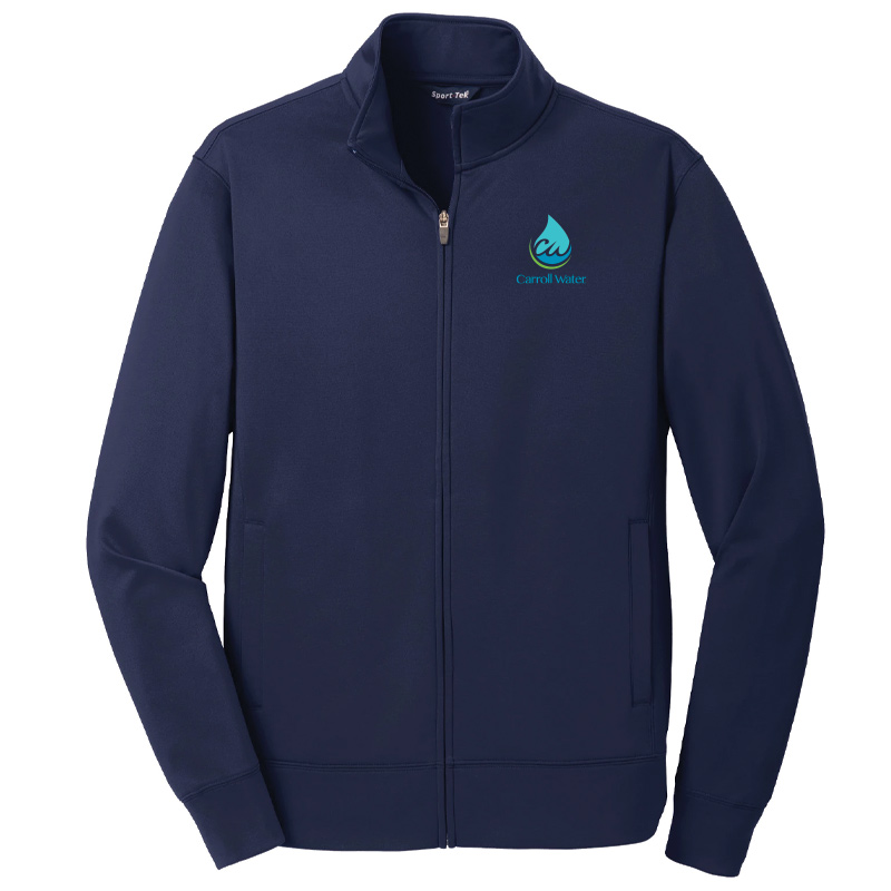 Carroll Water Sport-Tek® Sport-Wick® Fleece Full-Zip Jacket - Navy