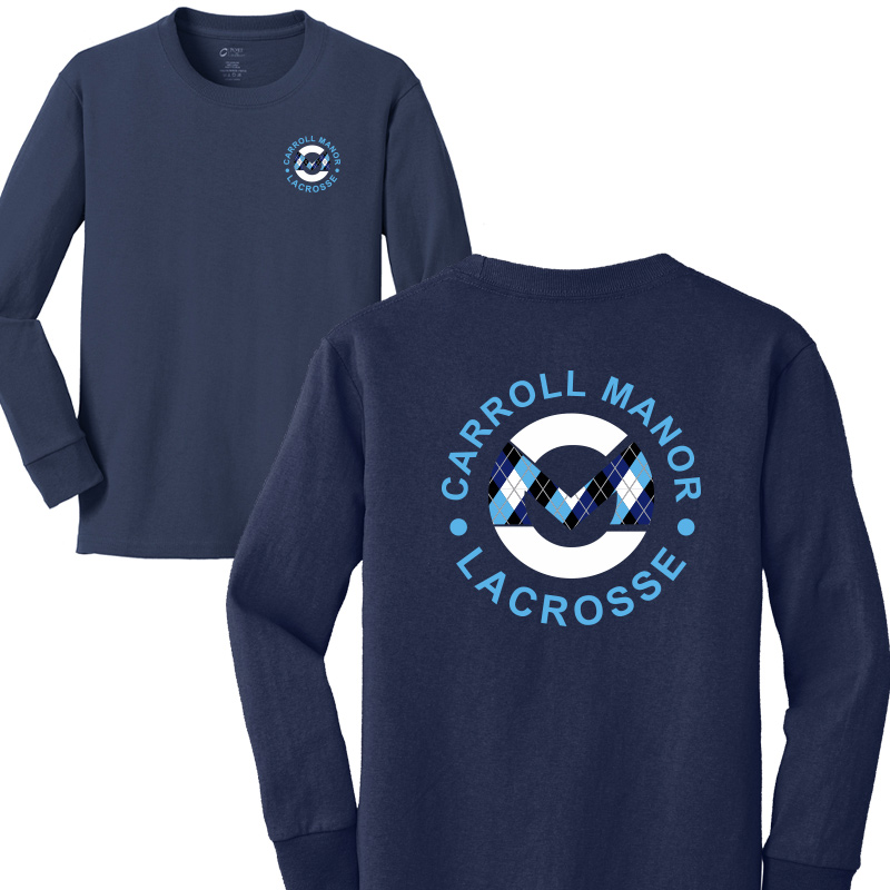 CMRC Lax Argyle Long Sleeve Core Cotton Tee - Navy