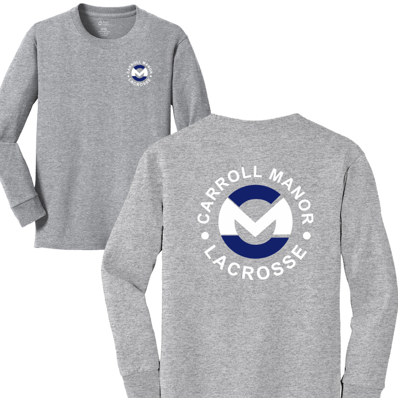 CMRC Lax  Long Sleeve Core Cotton Tee - Athletic Heather
