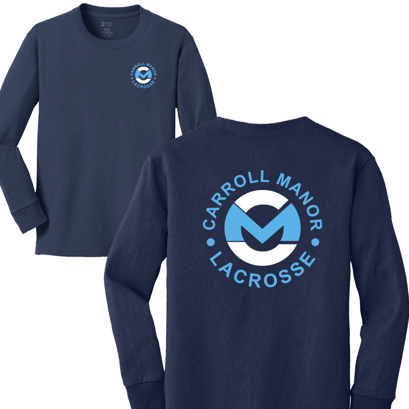 CMRC Lax  Long Sleeve Core Cotton Tee - Navy
