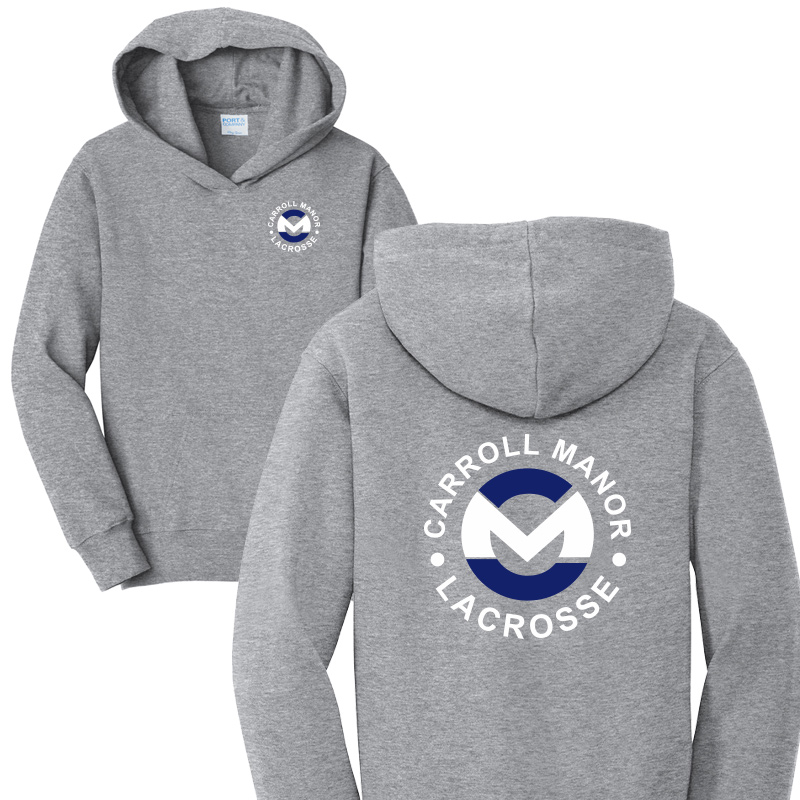 CMRC Lax  Fleece Pullover Hooded Sweatshirt - Athletic Heather