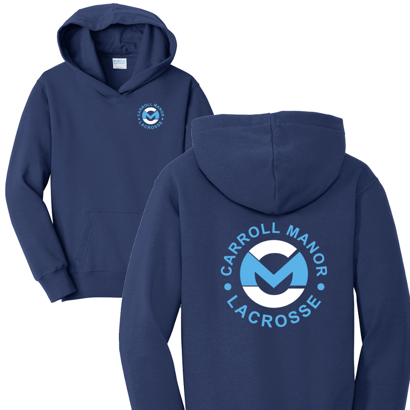 CMRC Lax  Fleece Pullover Hooded Sweatshirt - Navy