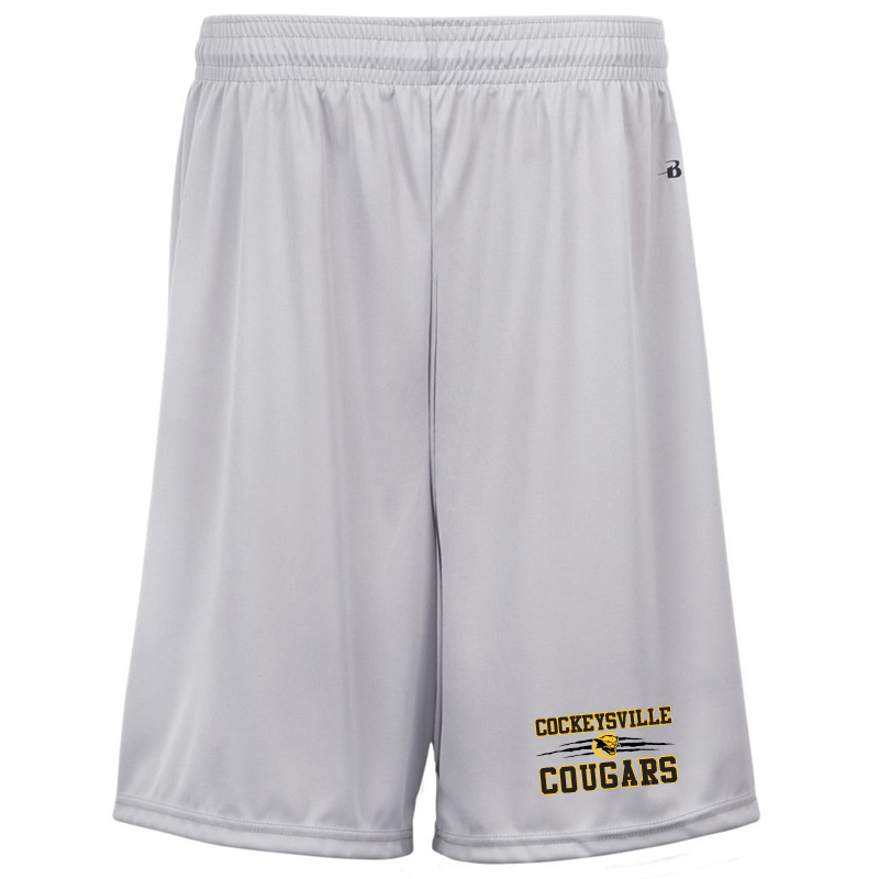 CMS Badger B-Dry Boys/Mens Wicking Shorts - Silver