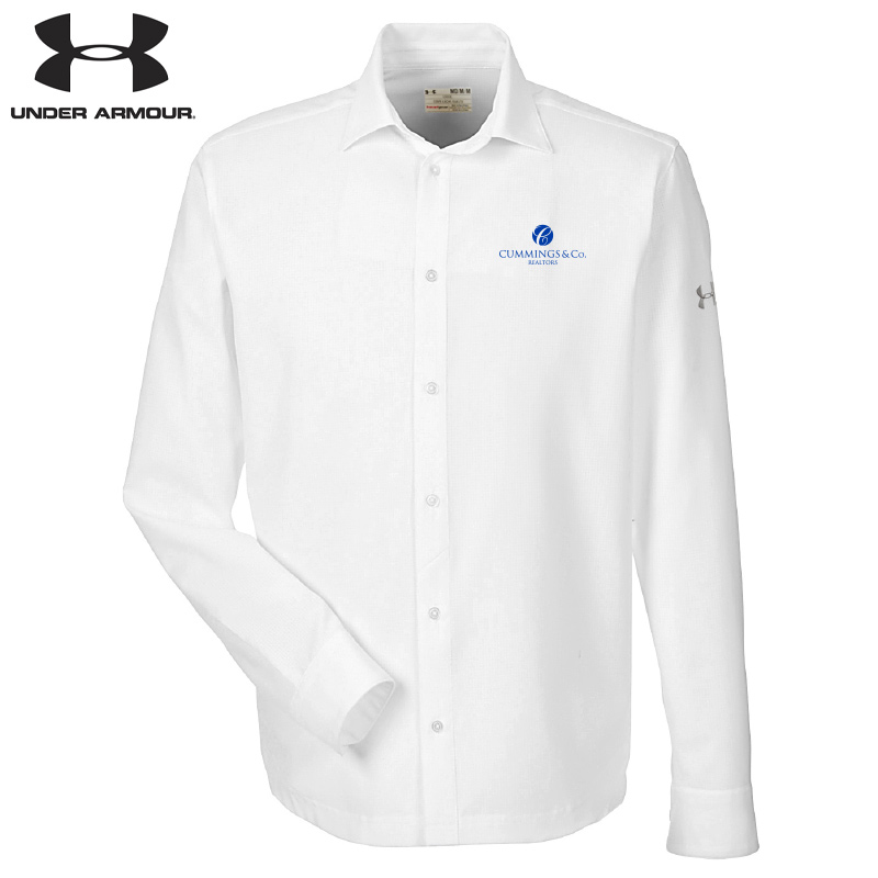 Cummings & Co Under Armour Men's Ultimate Long Sleeve Buttondown - White