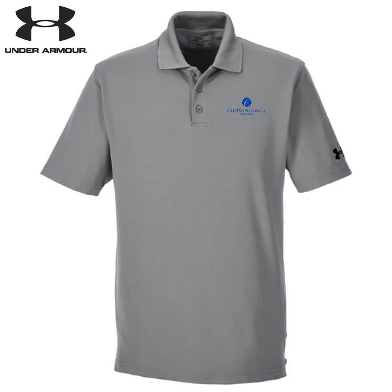 Cummings & Co Under Armour Men's Corp Performance Polo - Gray Heather