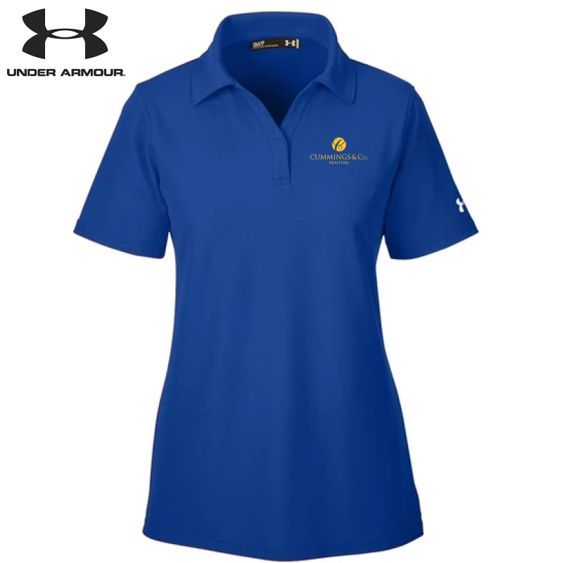 Cummings & Co Under Armour Ladies' Corp Performance Polo - Royal