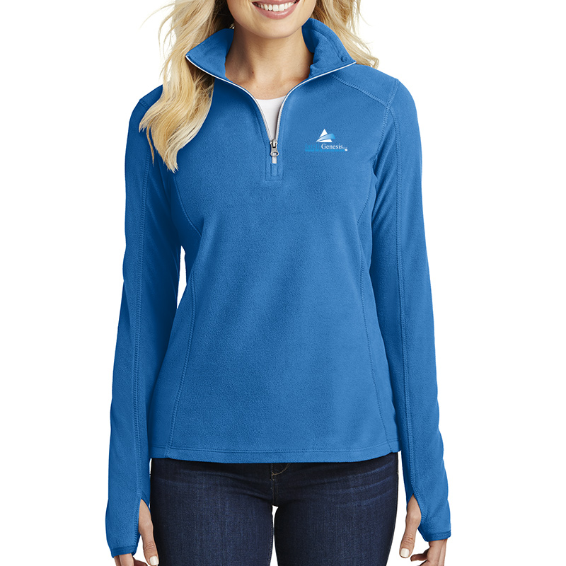 IntelliGenesis Port Authority Ladies Microfleece ½ Zip Pullover  - True Royal