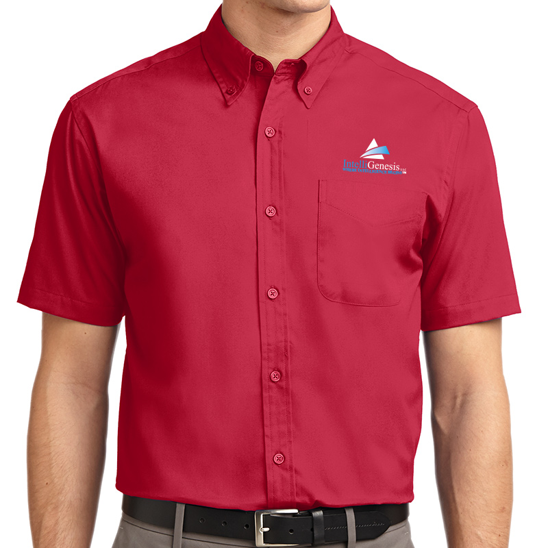 IntelliGenesis Port Authority Short Sleeve Easy Care Shirt - Red