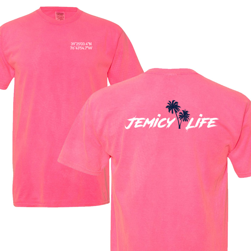 Jemicy Life  Comfort Colors Cotton S/S-Neon Pink
