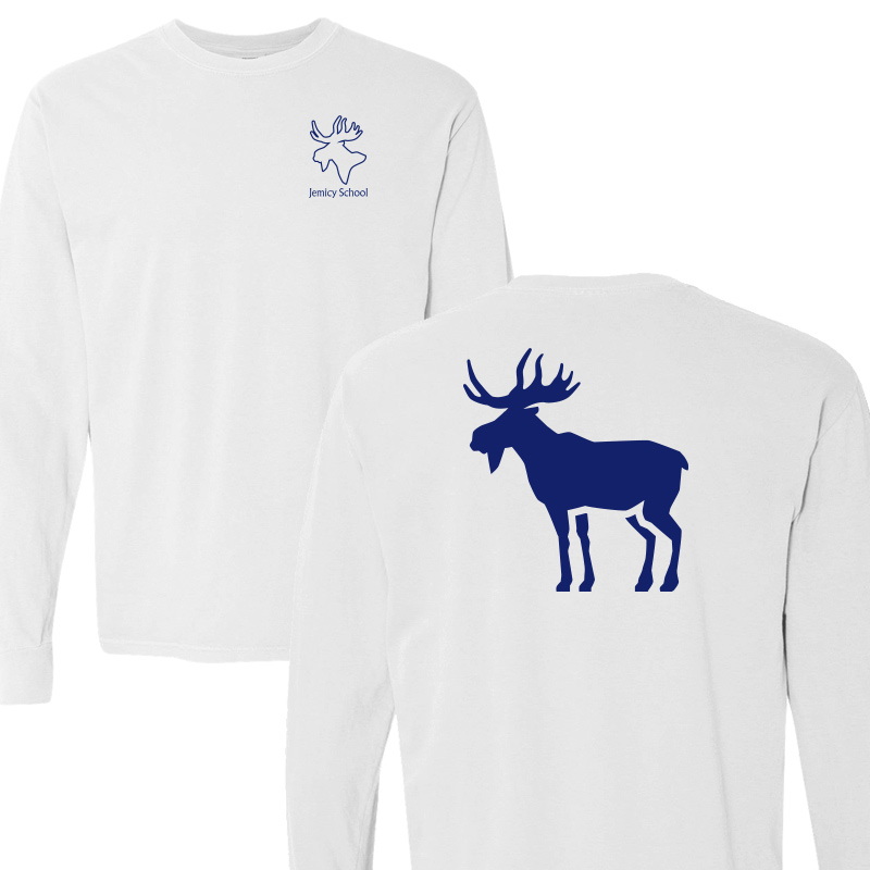 Jemicy Moose Comfort Colors L/S - White