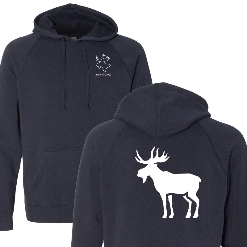 Jemicy Moose Unisex Special Blend Raglan Hooded Sweatshirt - Navy