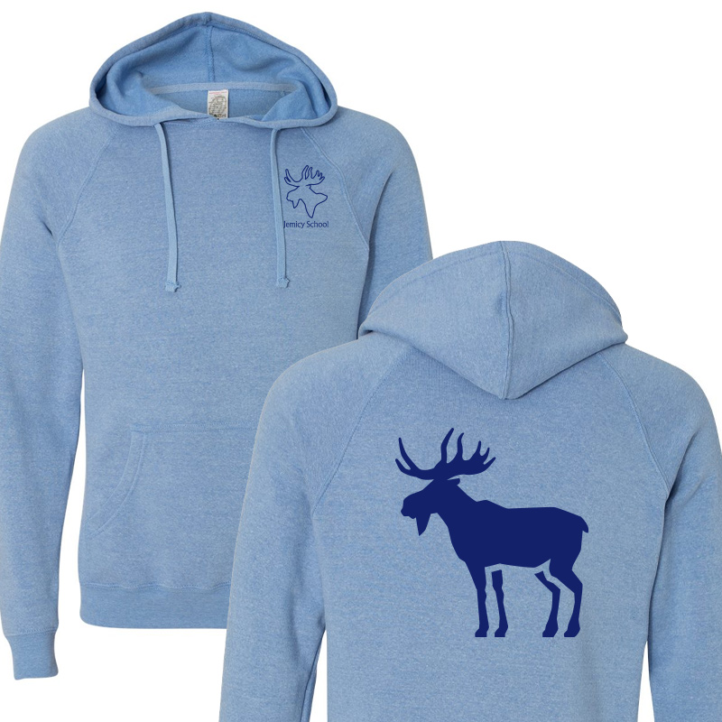 Jemicy Moose Unisex Special Blend Raglan Hooded Sweatshirt - Pacific