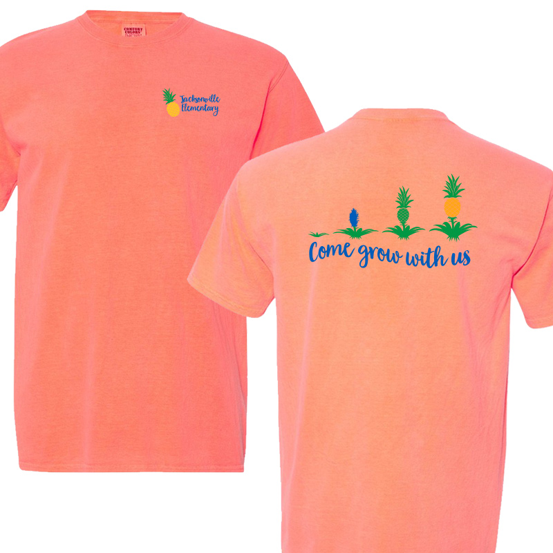 JES Come Grow With US Short Sleeve Tee - Neon Red Orange