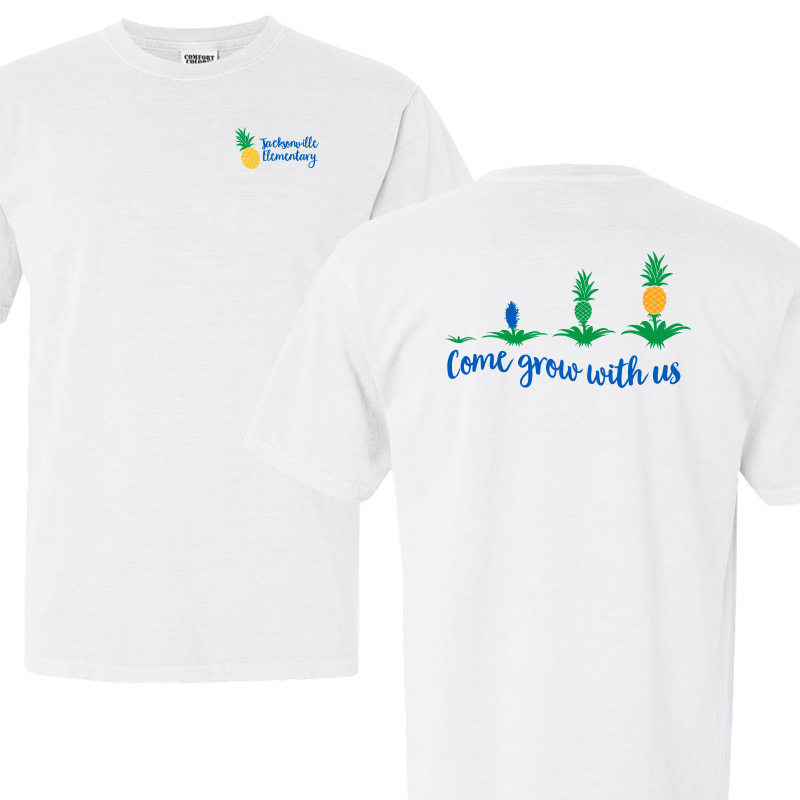JES Come Grow With US Short Sleeve Tee - White
