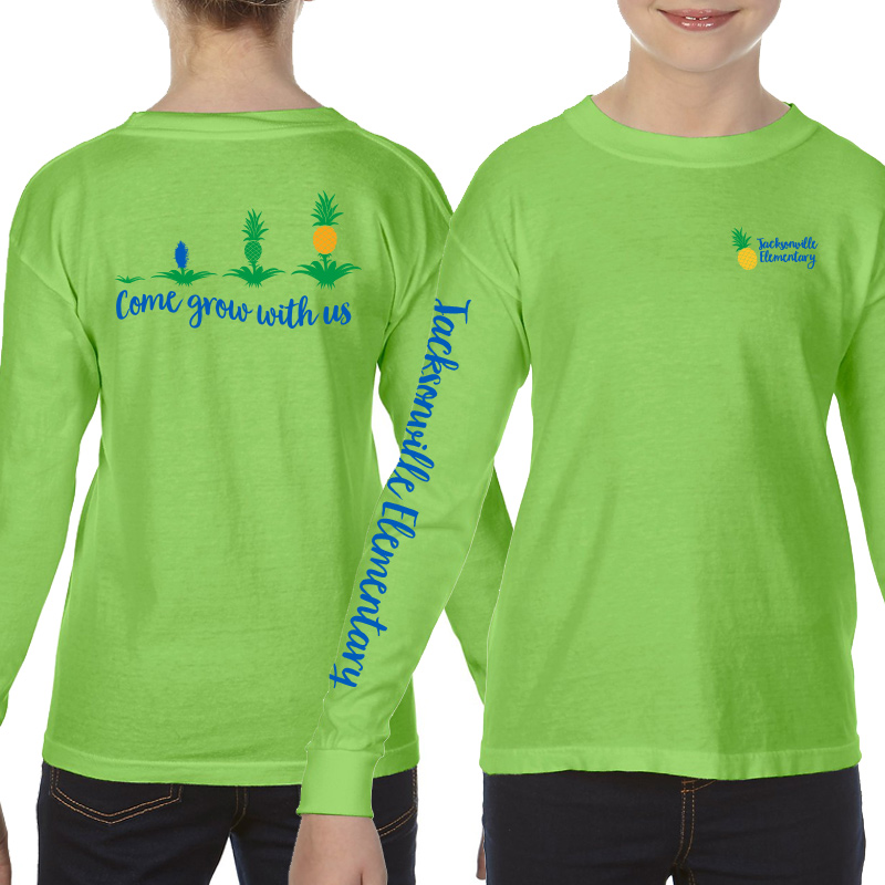 JES Come Grow With US Long Sleeve Tee - Lime
