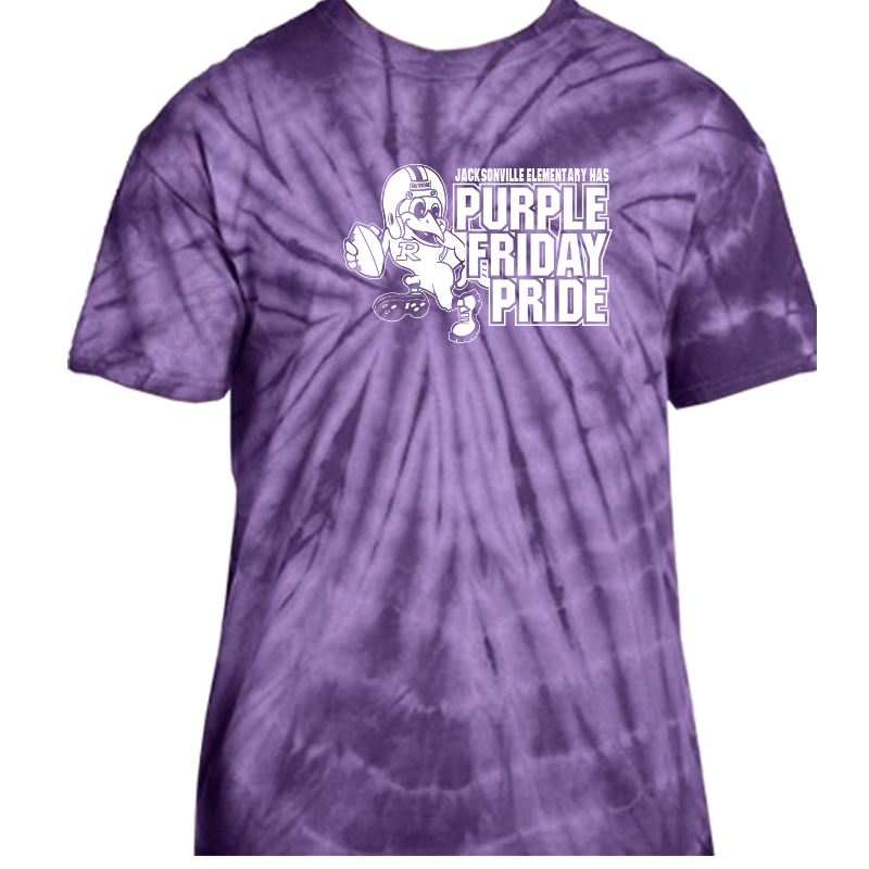 JES Purple Friday  Tie Dye S/S -