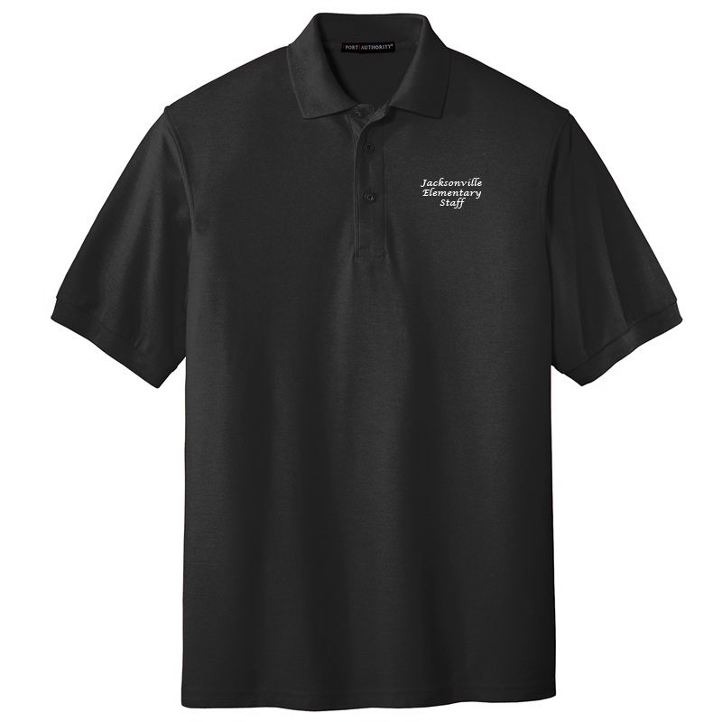 JES  Silk Touch Polo - Black