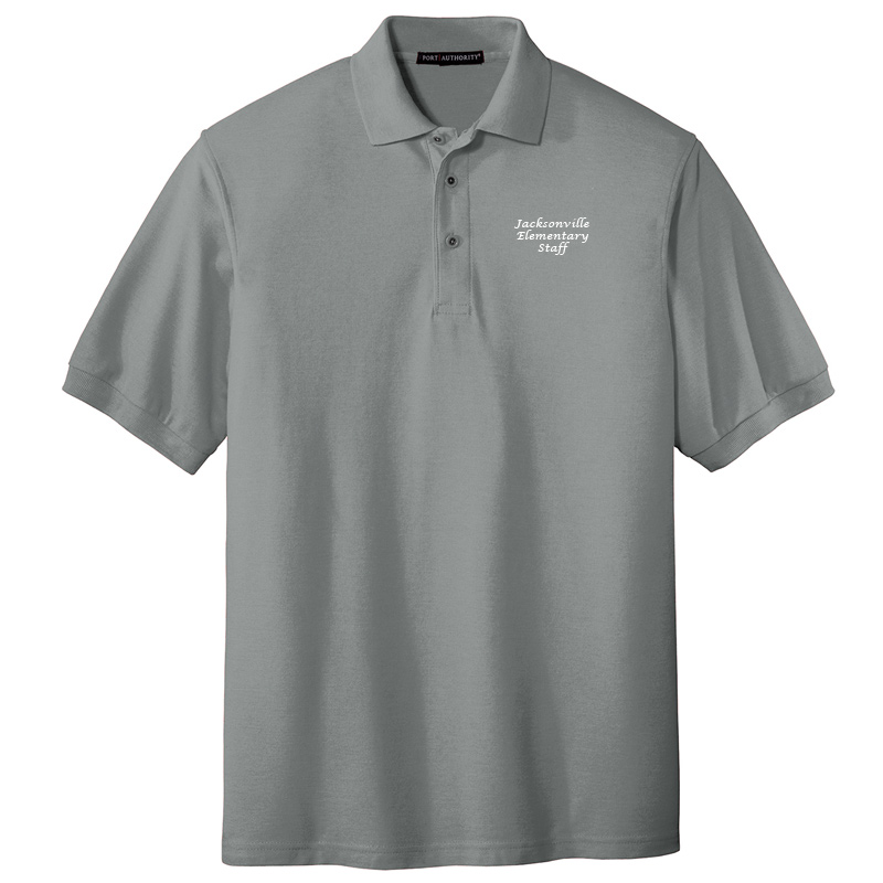 JES  Silk Touch Polo - Cool Grey