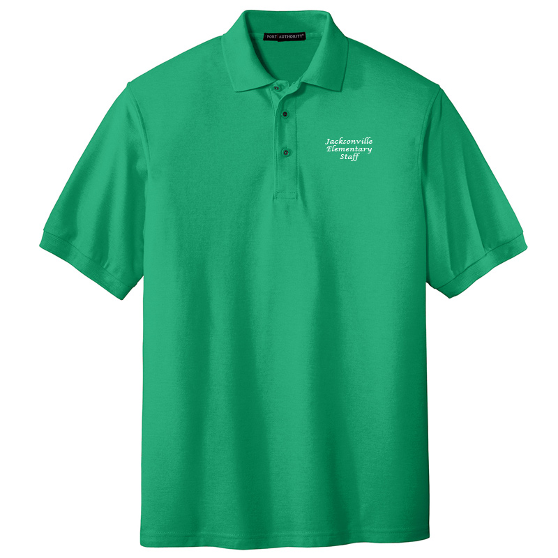JES  Silk Touch Polo - Court Green