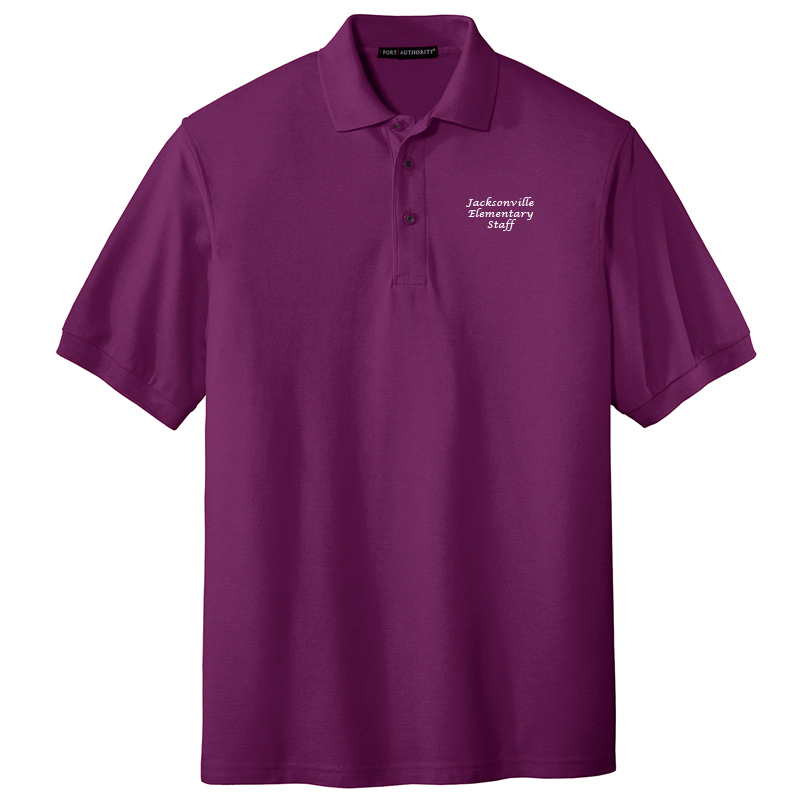 JES  Silk Touch Polo - Deep Berry