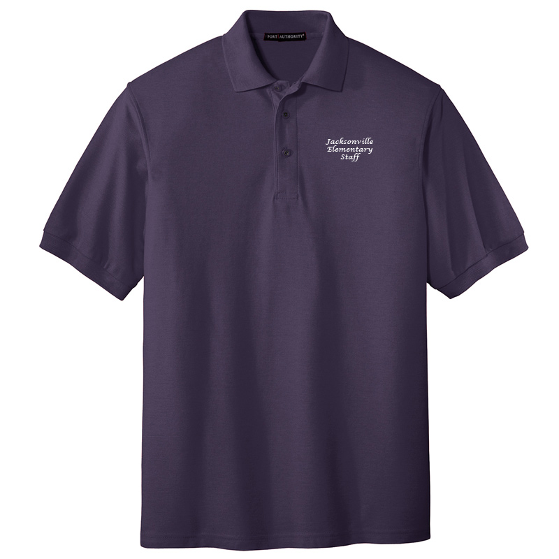 JES  Silk Touch Polo - Eggplant