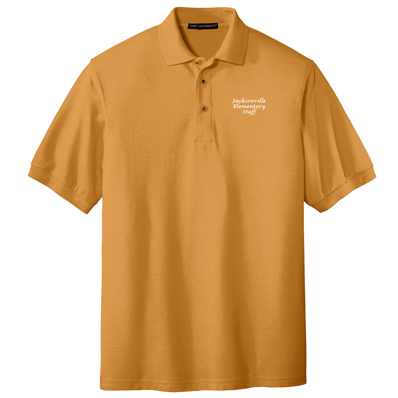 JES  Silk Touch Polo - Gold
