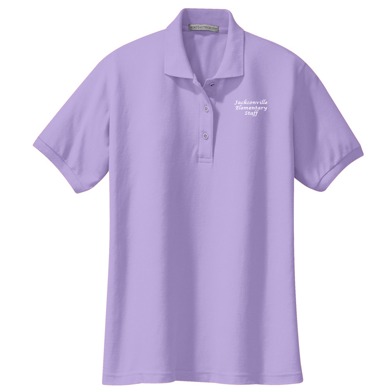 JES  Ladies Silk Touch Polo - Bright Lavender