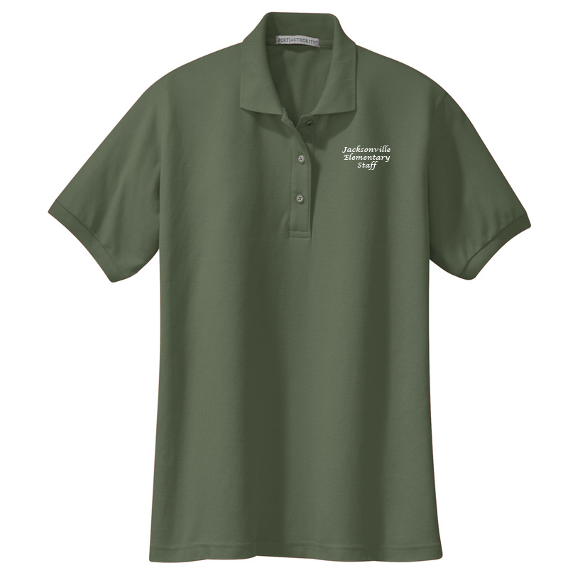 JES  Ladies Silk Touch Polo - Clover Green