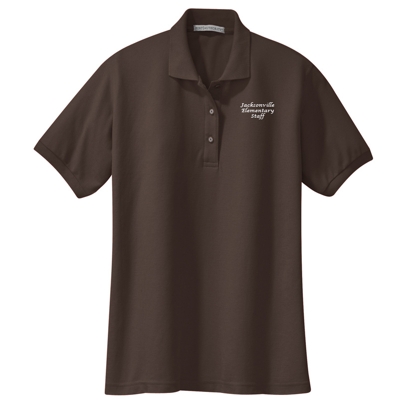 JES  Ladies Silk Touch Polo - Coffee Bean