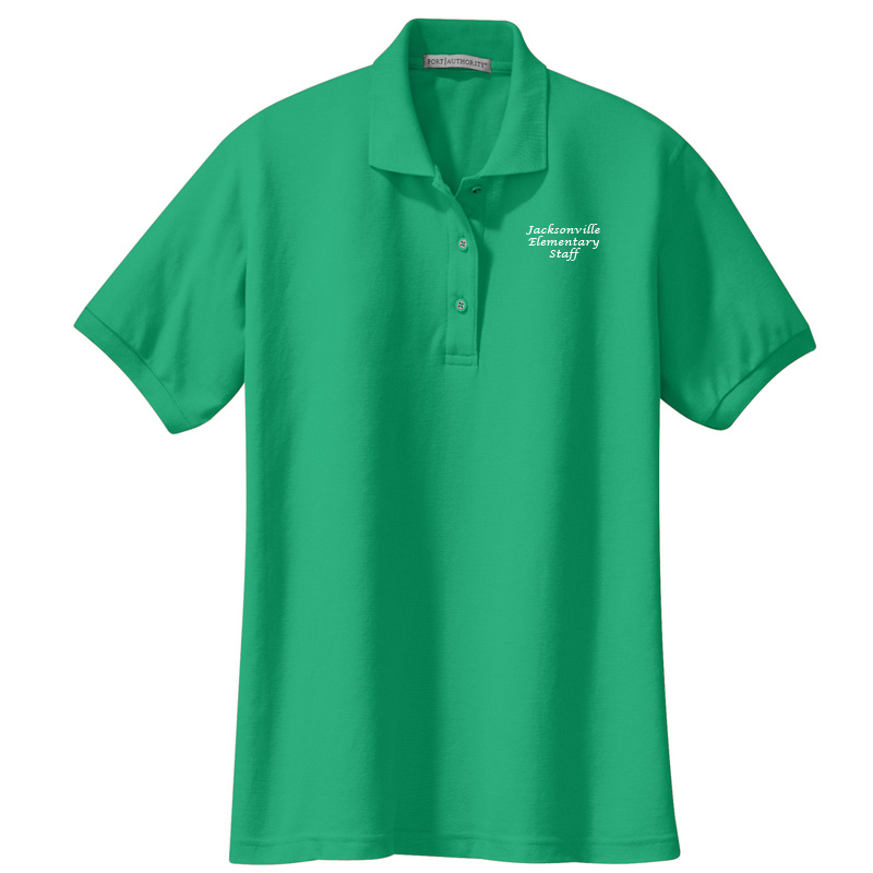 JES  Ladies Silk Touch Polo - Court Green