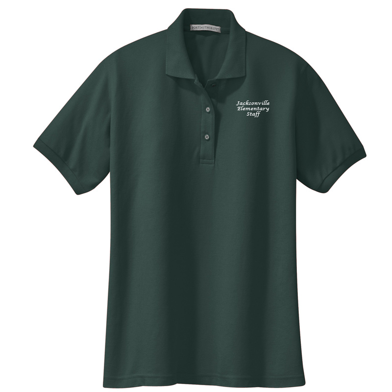 JES  Ladies Silk Touch Polo - Dark Green
