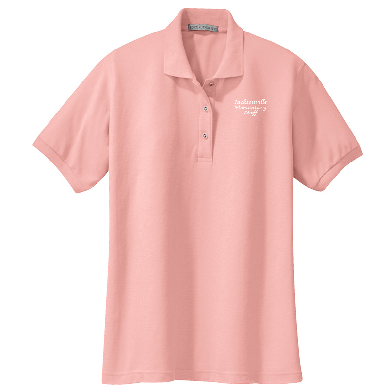 JES  Ladies Silk Touch Polo - Light Pink