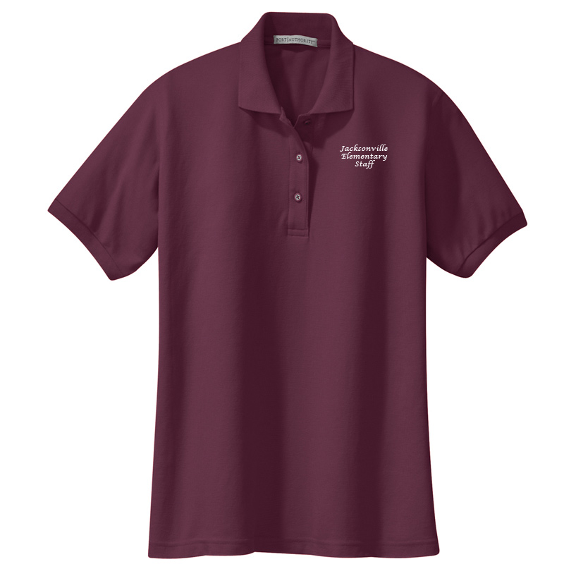 JES  Ladies Silk Touch Polo - Burgundy