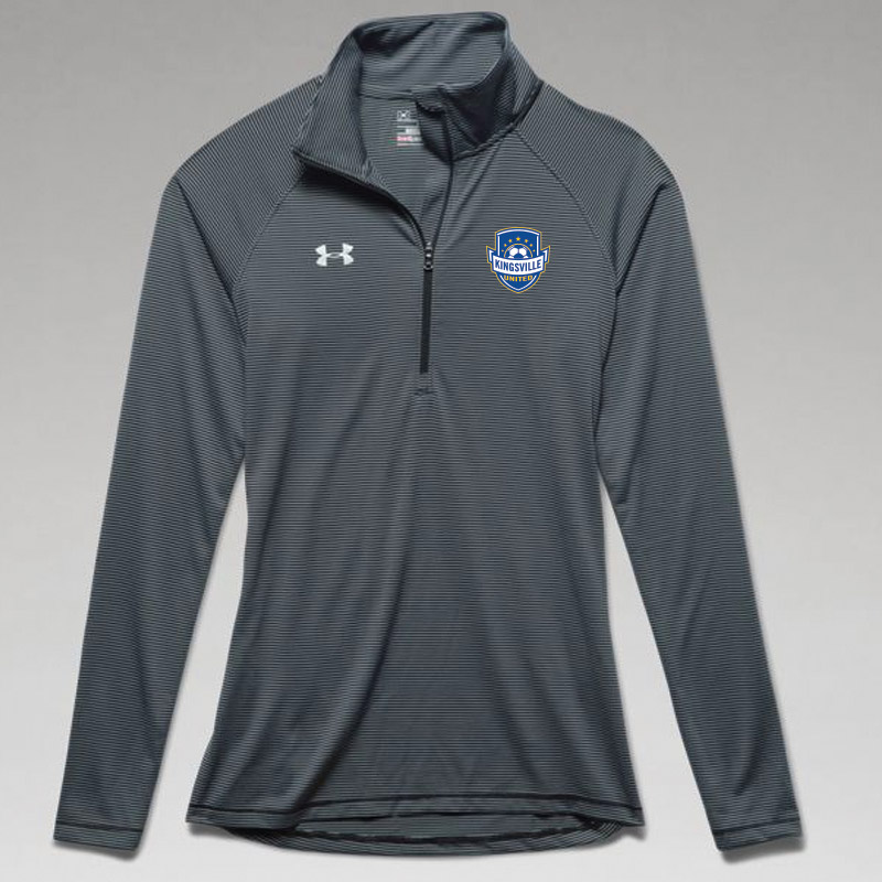 Kingsville United -Women's UA Stripe Tech 1/4 Zip