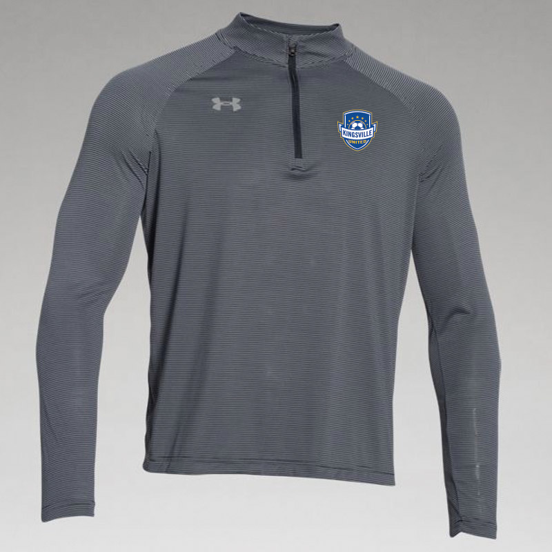 Kingsville United -UA Mens Team Stripe Tech 1/4 Zip