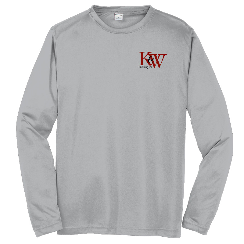 K&W Finishing Long Sleeve  Competitor Tee - Silver