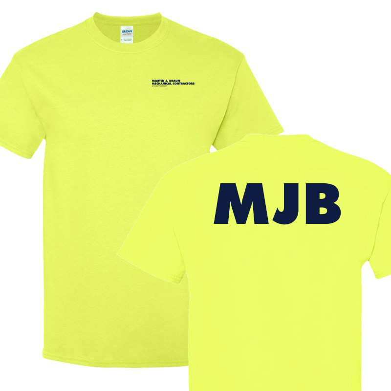 MJB Short Sleeve Tee - Safety Green