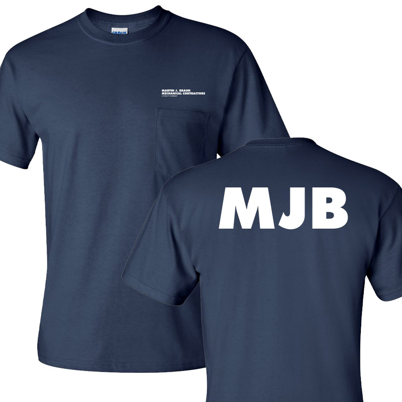 MJB Short Sleeve Pocket Tee - Navy