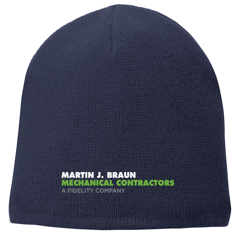 MJB Fleece Lined Beanie - Athletic Oxford