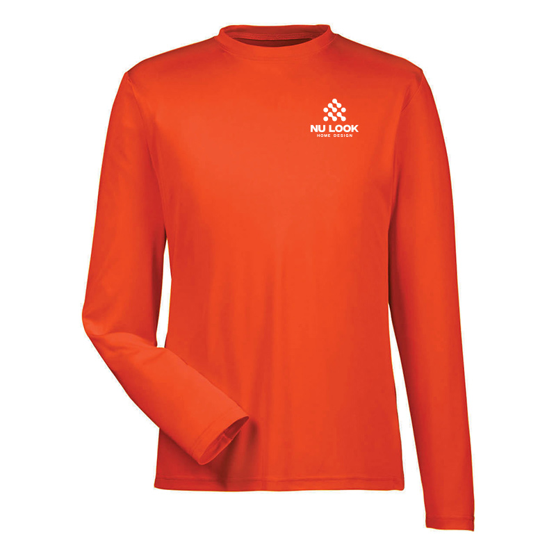 Nu Look Home Design Team 365 Men's Zone Performance Long-Sleeve T-Shirt - Sport Orange