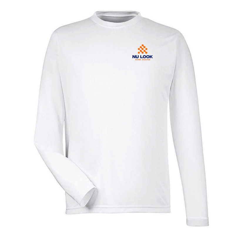 Nu Look Home Design Team 365 Men's Zone Performance Long-Sleeve T-Shirt - White