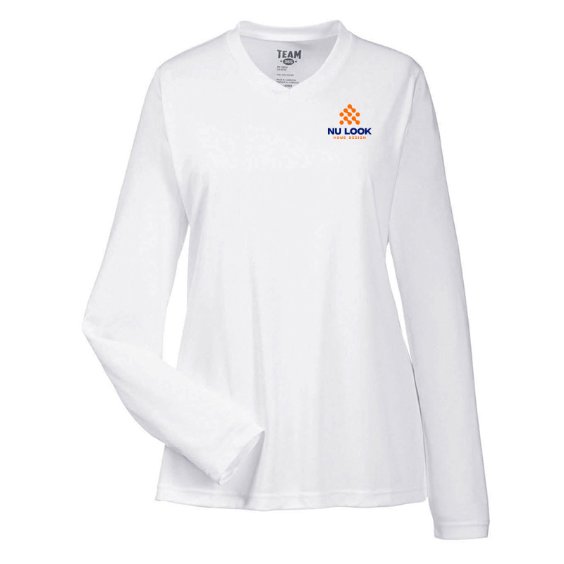 Nu Look Home Design Team 365 Ladies' Zone Performance Long-Sleeve T-Shirt - White
