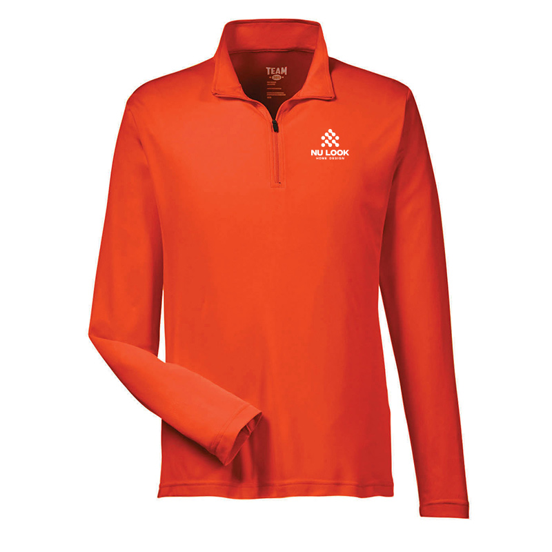 Nu Look Home Design Team 365 Men's Zone Performance Quarter-Zip - Sport Orange
