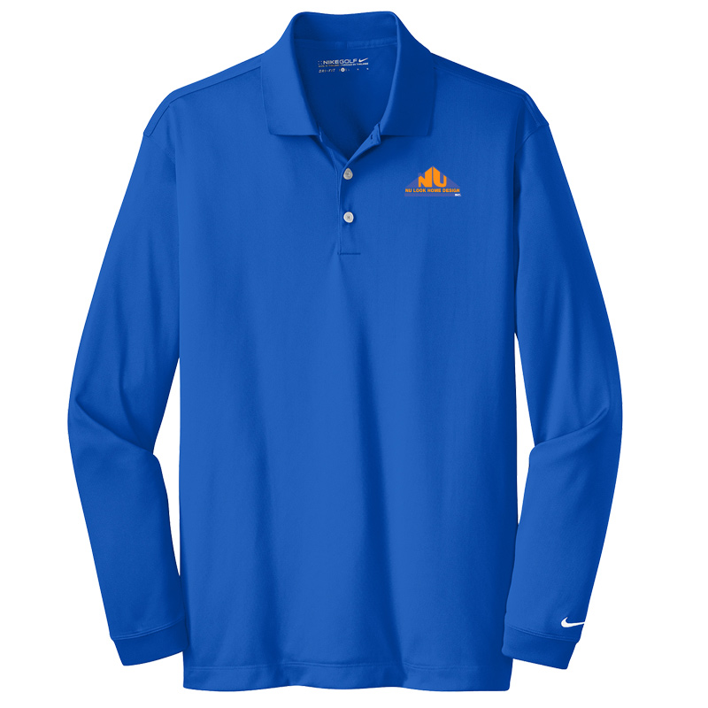Nu Look Home Design Nike Long Sleeve Dri-FIT Stretch Tech Polo - Blue Sapphire