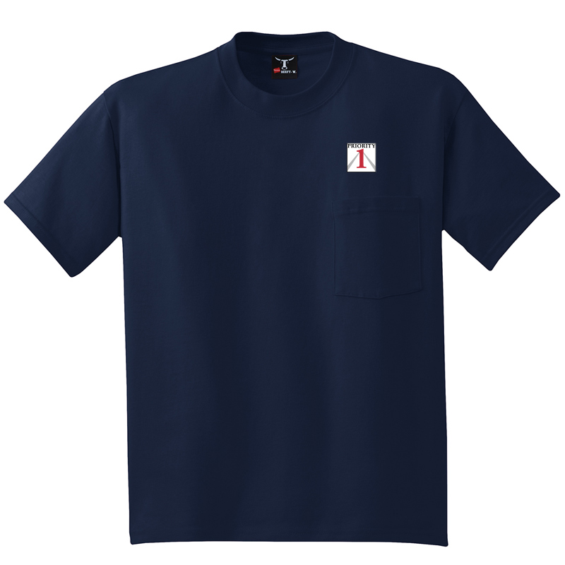 Priorirty 1 Auto Heavyweight Pocket T-Shirt - Navy