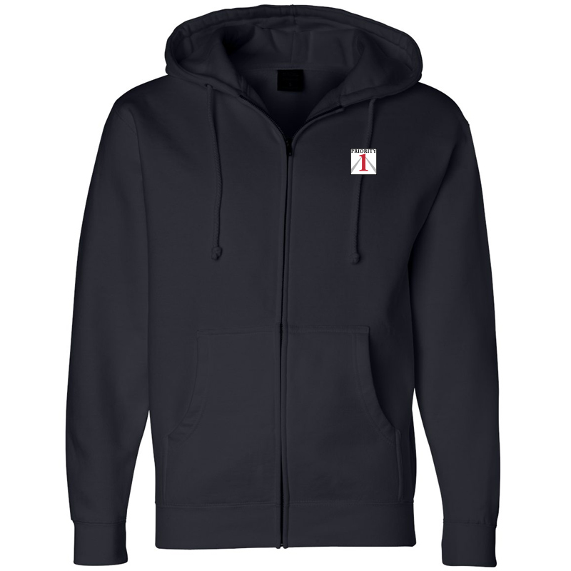 Priorirty 1 Auto Heavyweight Full-Zip Hooded Sweatshirt - Black