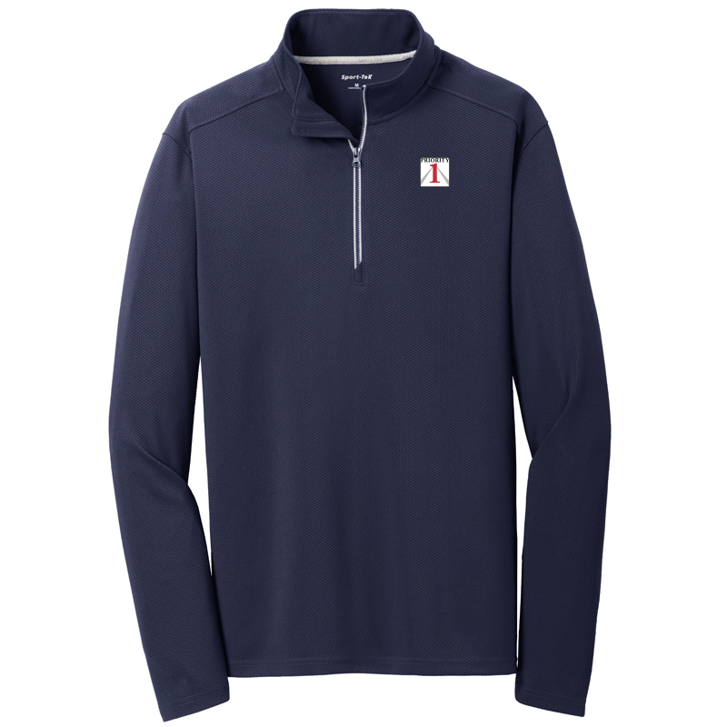 Priorirty 1 Auto Sport-Tek 1/4 Zip Textured Pullover - Navy